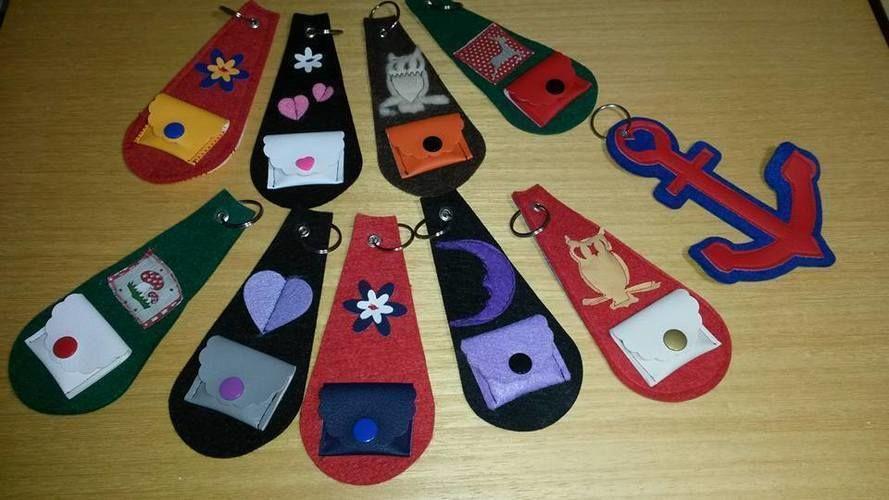Makerist - Schlüsselanhänger mit und ohne Minibörse  - Nähprojekte - 1
